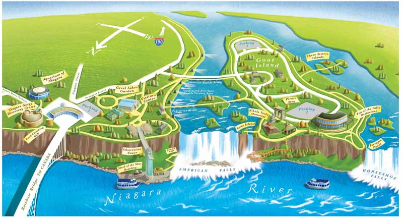 Niagara Falls Cave of the Winds | niagara falls niagara falls state park map